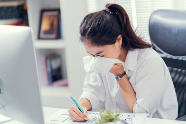 Alergia a home office