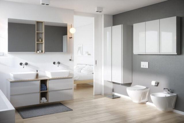 Połączenie łazienki i sypialni